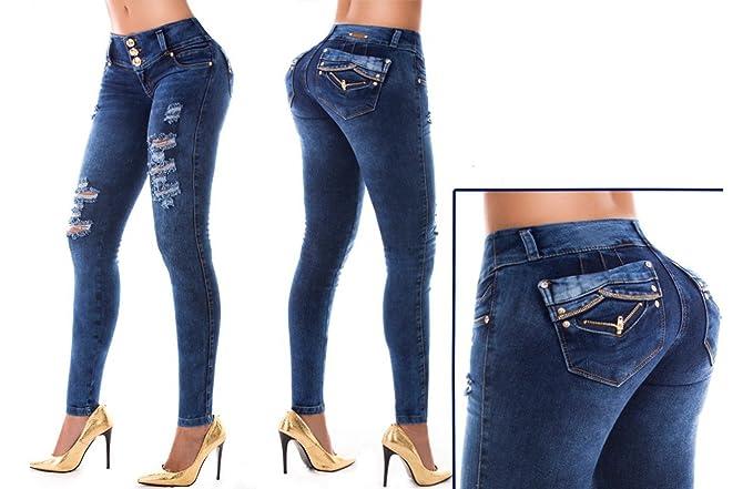 HADABELLA Vaqueros Jeans Wonder/Push Up Súper Pitillo Skinny ...