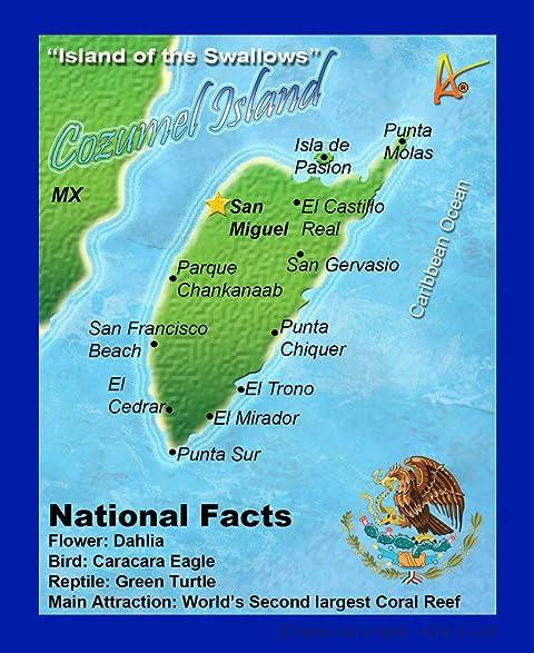 best ultimate iron on cozumel mexico travel collectable souvenir patch destination map souvenir postcard