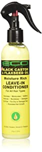Eco Style Black Castor and Flaxseed Oil Leave-In Conditioner, 8 Ounce