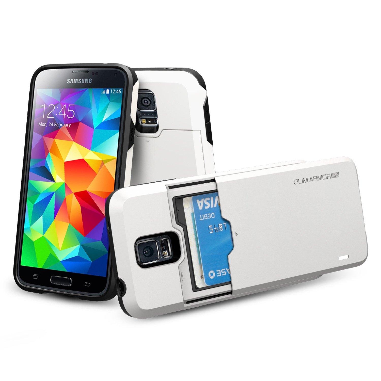 lowest price f5bb8 294b2 Amazon.com: Spigen Slim Armor CS Galaxy S5 Case with Slim Dual Layer ...