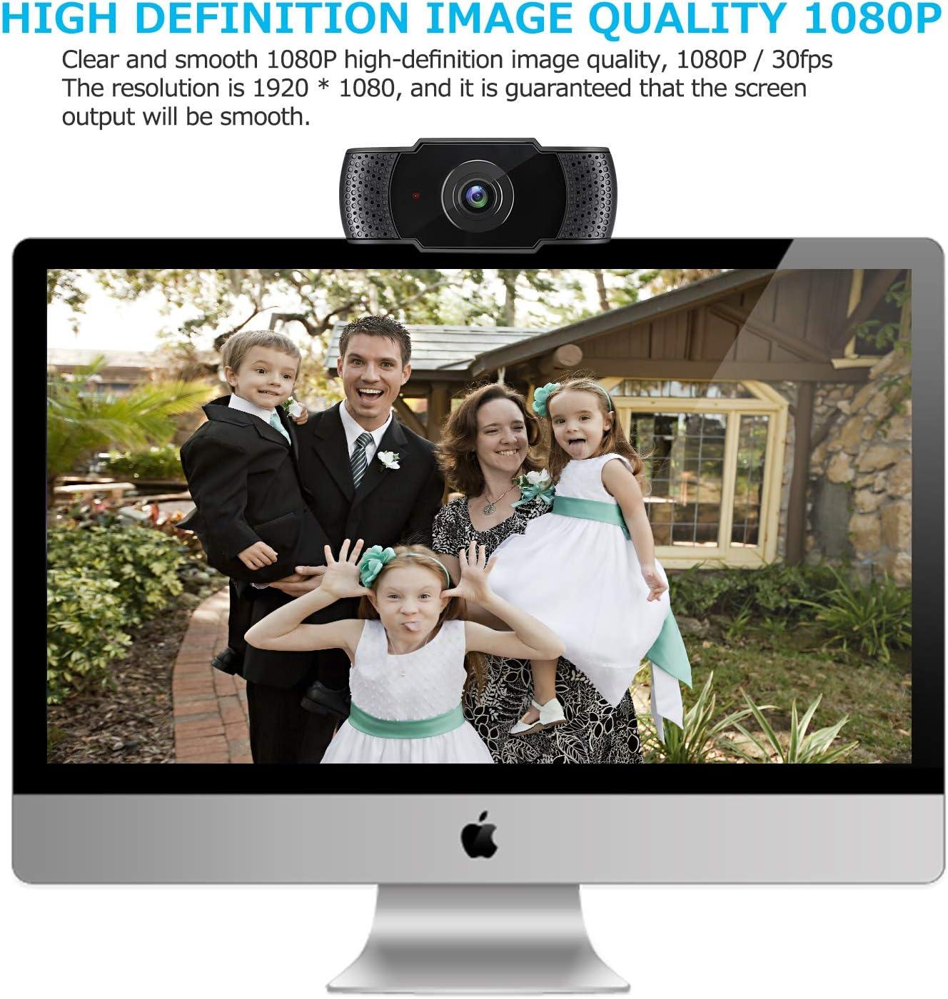 Gaming PC ideal f/ür Konferenzen Skype Videoanruf IVSO Webcam 1080P mit Mikrofon Plug /& Play f/ür Desktop PC,Laptop Live /Übertragungen WebEx-Schwarz PC Laptop Desktop USB 2.0 Full HD Webkamera