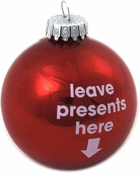 Decorazioni Natalizie In Inglese.Decorazione Di Natale In Inglese Leave Presents Here Lasciare Doni Qui Amazon It Casa E Cucina