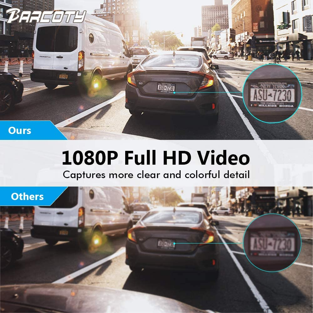 Dual Dash Cam Front and Rear, Full HD 1080P Dash Camera for Cars with Night Vision, 170 Wide Angle Lens Car Video Camera with 4 Screen, Parking Monitor, G-Sensor, Motion Detection, Loop Recording