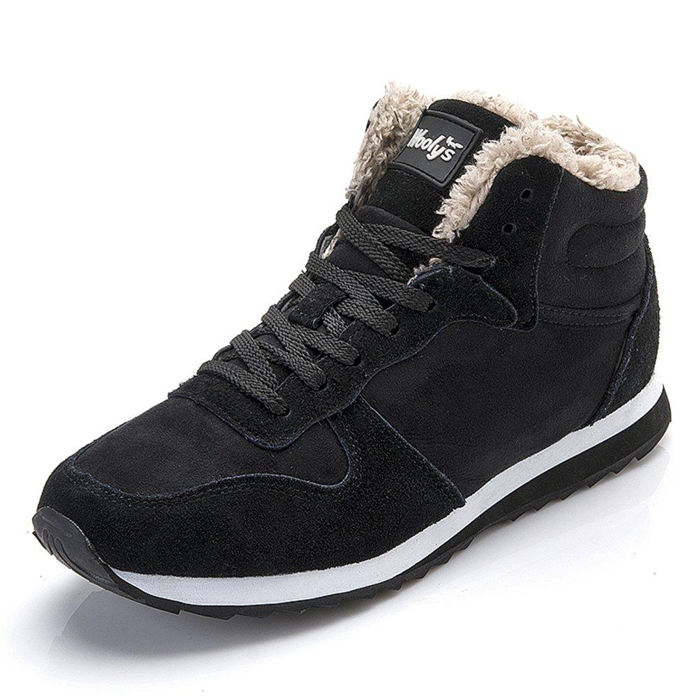 CCZZ Herren Damen Schneestiefel Warm gefütterte Sneaker Winter Stiefel Outdoor Freizeit Schuhe 35 47 Schwarz