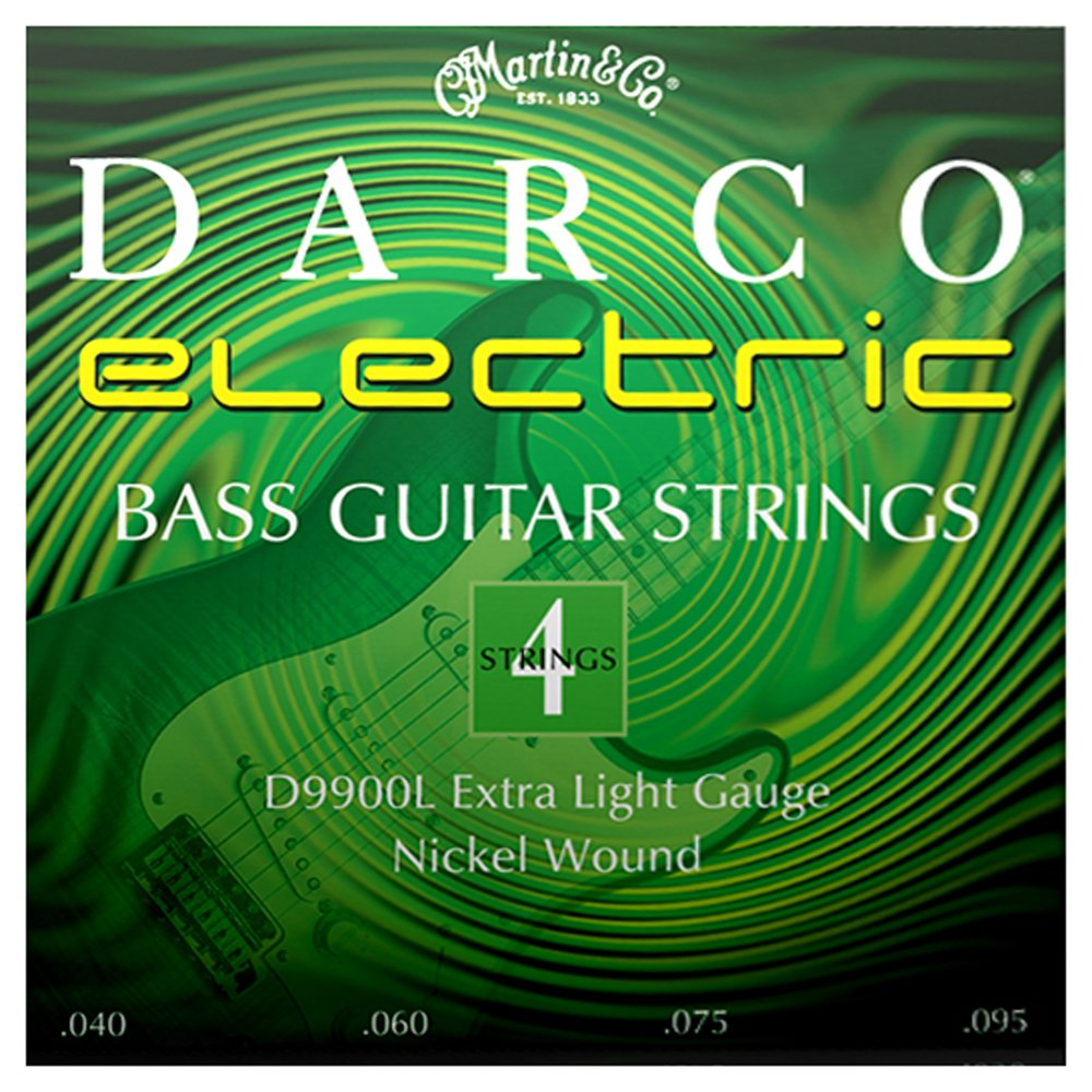 Darco D9900L Nickel Plated Bass Guitar Strings, Extra Light C.F. Martin & Co.