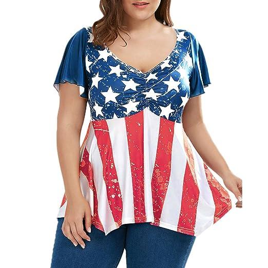 Amazon.com: Womens Flag Dress, NDGDA Ladies Plus Size ...