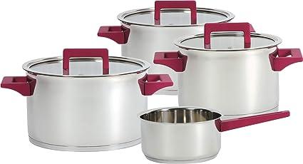 Ideal casa Batería Cocina Acero Inoxidable 7 Piezas Apta para Todas Las cocinas. Compuesta por