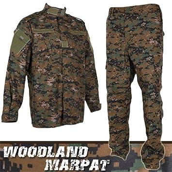 Airsoft Pro Military Camo Army Uniform Tactical BDU Set Woodland Marpat (M) 7236c1b7235
