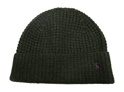 Ralph Polo Lauren Men s Waffle Knit Merino Wool Hat Olive Green at ... 953ee2e5c9a