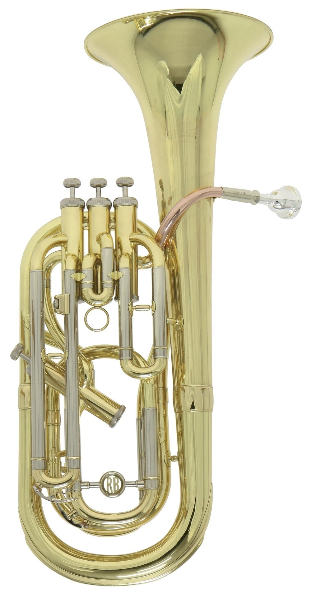 Roy Benson MOD.BH-302BB 3 Plus 1 Ventile Lacquered Finish Baritone with Light Weight Form Shaped Case by Roy Benson