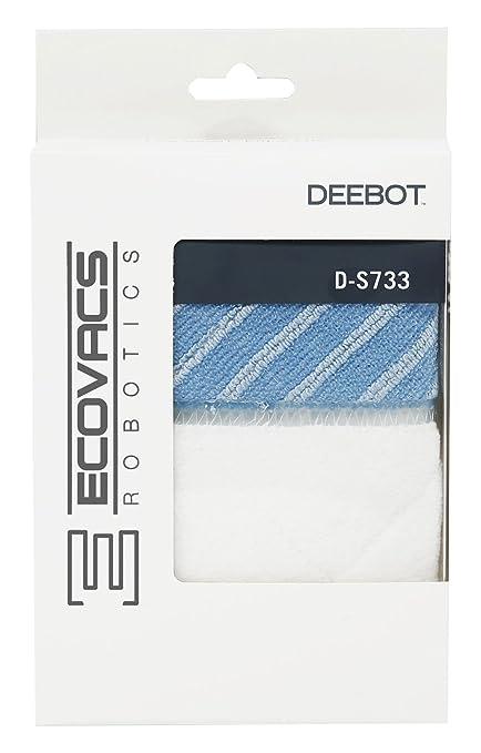 Ecovacs D-S733 Set de mopa limpieza Plastic, Blanco y azul