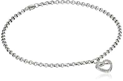 Fine Jewelry 14kt Solid White Gold Sparklee Bead Anklet