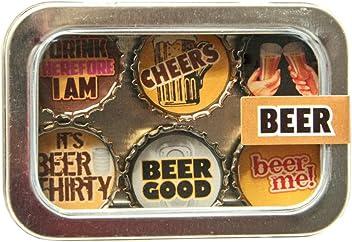 Kate Grenier Designs Beer Bottle Cap Magnets