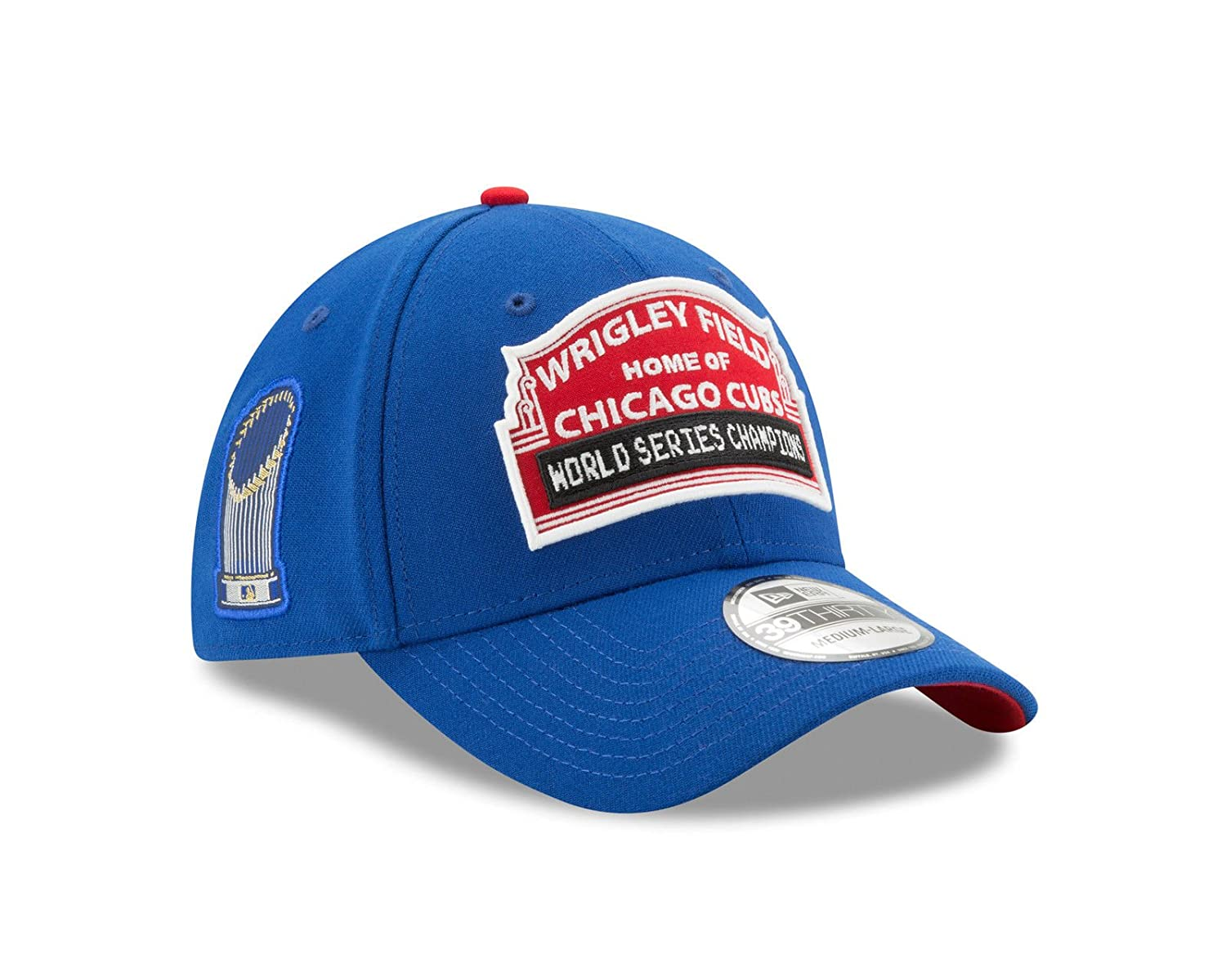 Amazon.com   New Era Chicago Cubs 2016 World Series Wrigley Field  Medium Large Flex Fit Championship Hat   Sports   Outdoors 7938f5b847b