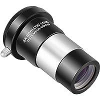 Neewer 32mm 2x Barlow Lentille Grossissement Double Multi-Enduit Revêtement Film Vert avec Filetage M42 pour Télescope Oculaire Astronomie