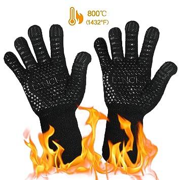 presentando diventa nuovo informazioni per Guanti Grigliati da forno 1432 ° F Guanti resistenti al calore estremi  Guanti da barbecue Accessori da cucina Protezione dell'avambraccio per ...