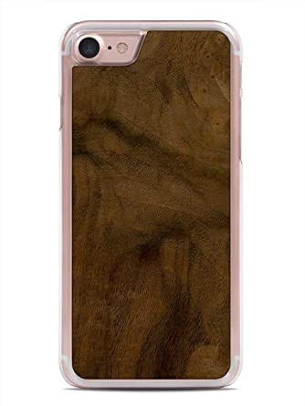 timeless design 17e4c 2bb5e iPhone 7 Walnut Burl Wood Clear Case by Carved, Unique Real Wooden Phone  Cover (Clear, Fits Apple iPhone 7)