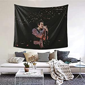 Harry Art Tapestry Poster Wall Hanging, Boutique Art Wall Hanging Tapestry black and white tapestry Pop music tapestry for Living Room Bedroom Home Decor (59.1 x 51.2 inch)