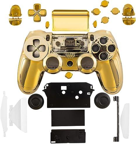 kwmobile Carcasa control de consola compatible con Playstation Controlador de PS 4 (1. Gen) en dorado: Amazon.es: Videojuegos