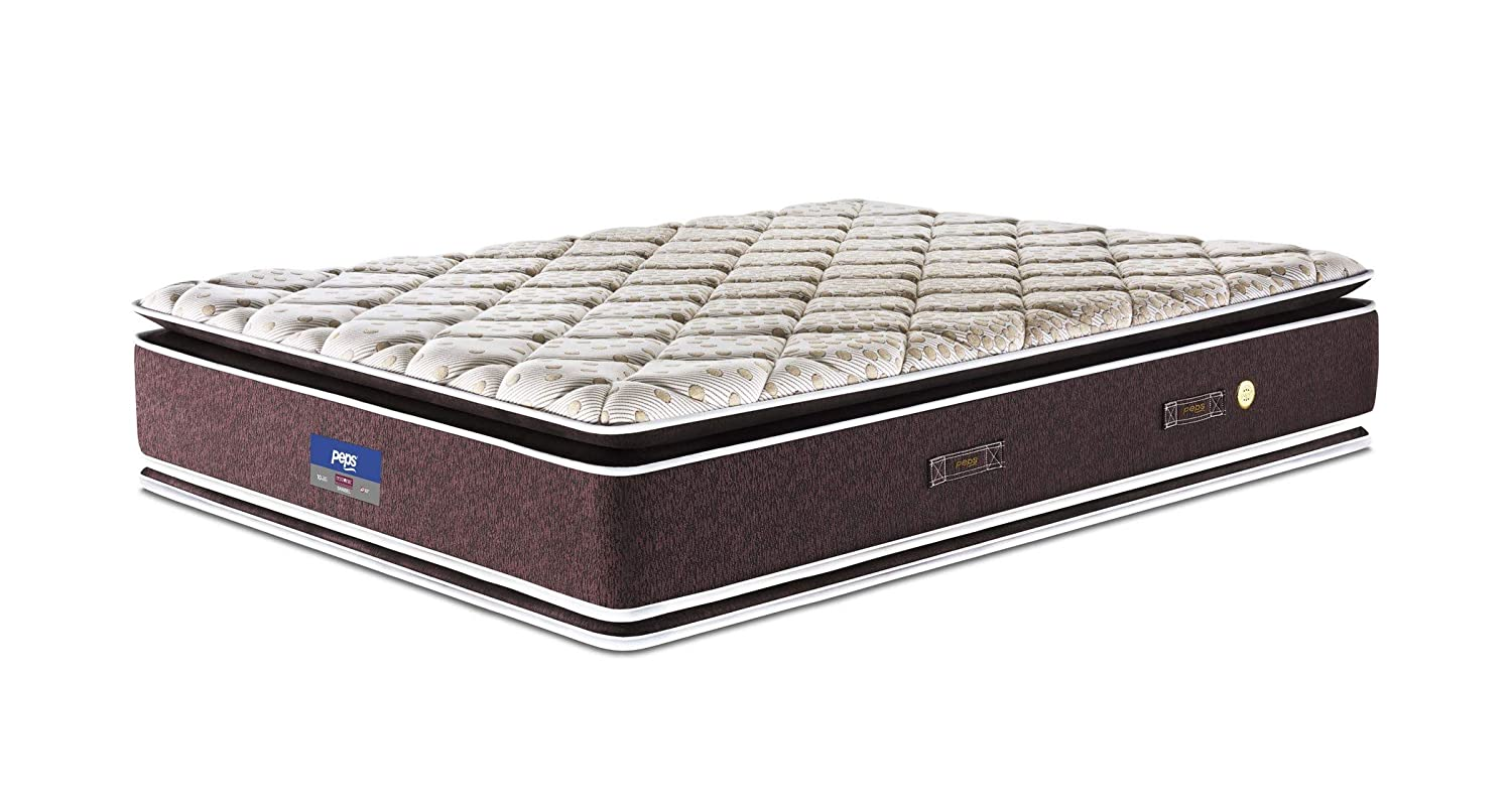 Peps Restonic 6-inch Single Size Spring Mattress (Beige, 72x36x06)