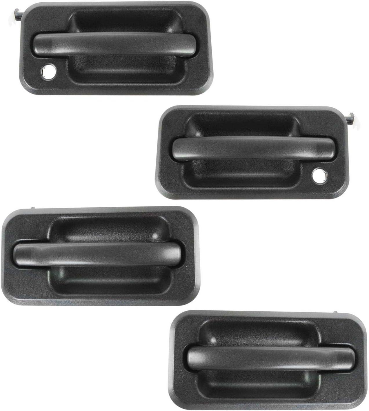 Exterior Outside Door Handle Chrome Black Front RH Passenger Side for 03-05 H2
