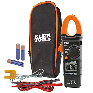 Klein Tools CL210 Digital Clamp Meter, AC Auto-Ranging with Temp