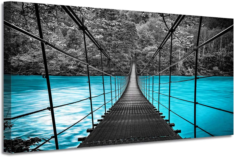 A river bridge  Beautiful wall art canvas  Wall art ready to hang  Bridge wall art