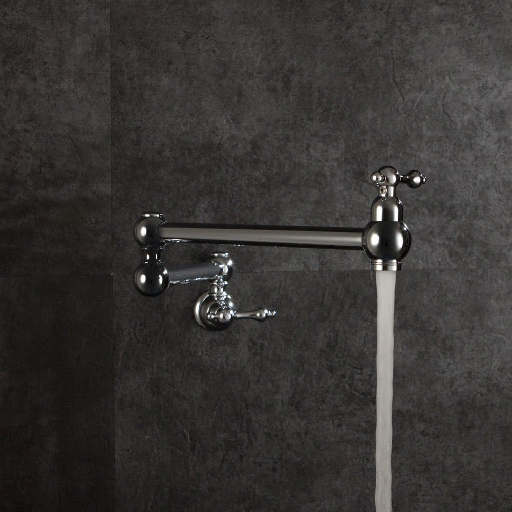 S.Twl.E Sink Mixer Tap Faucet Bathroom Kitchen Basin Tap Leakproof Save Water Fold Into Wall Folding Single Cold Kitchen