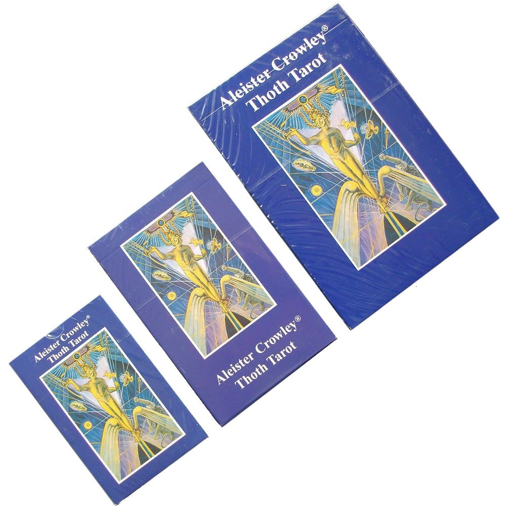 Green Cross Toad Aleister Crowley Thoth Tarot, 78 Cartes de Divination avec Instructions en Anglais (De Luxe)