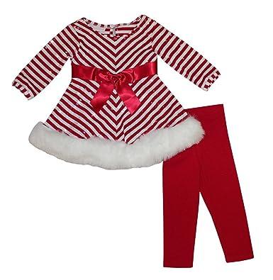 cc41c715b Bonnie Jean Girls Red Sequins Christmas Santa Dress Legging Outfit, 0-3M
