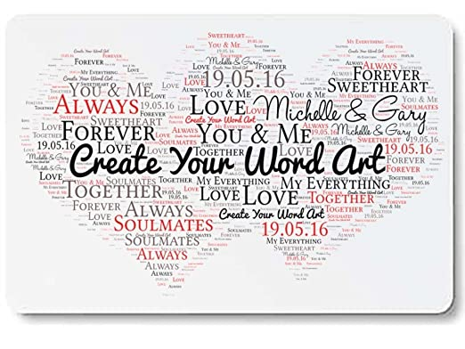 Personalizado amor corazones arte de la palabra Mini tipo cartera ...