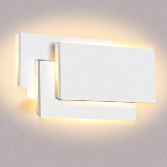Hochwertig Wandleuchte LED Innen Warmweiß 12W, LED Wandlampe Modern Indirekte Leuchte  Wandlicht Aluminium Wandbeleuchtung Für Schlafzimmer