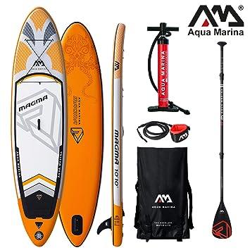 Aqua Marina Magma 2019 Sup Board Hinchable Stand Up Paddle Tabla de Surf Remos: Amazon.es: Deportes y aire libre