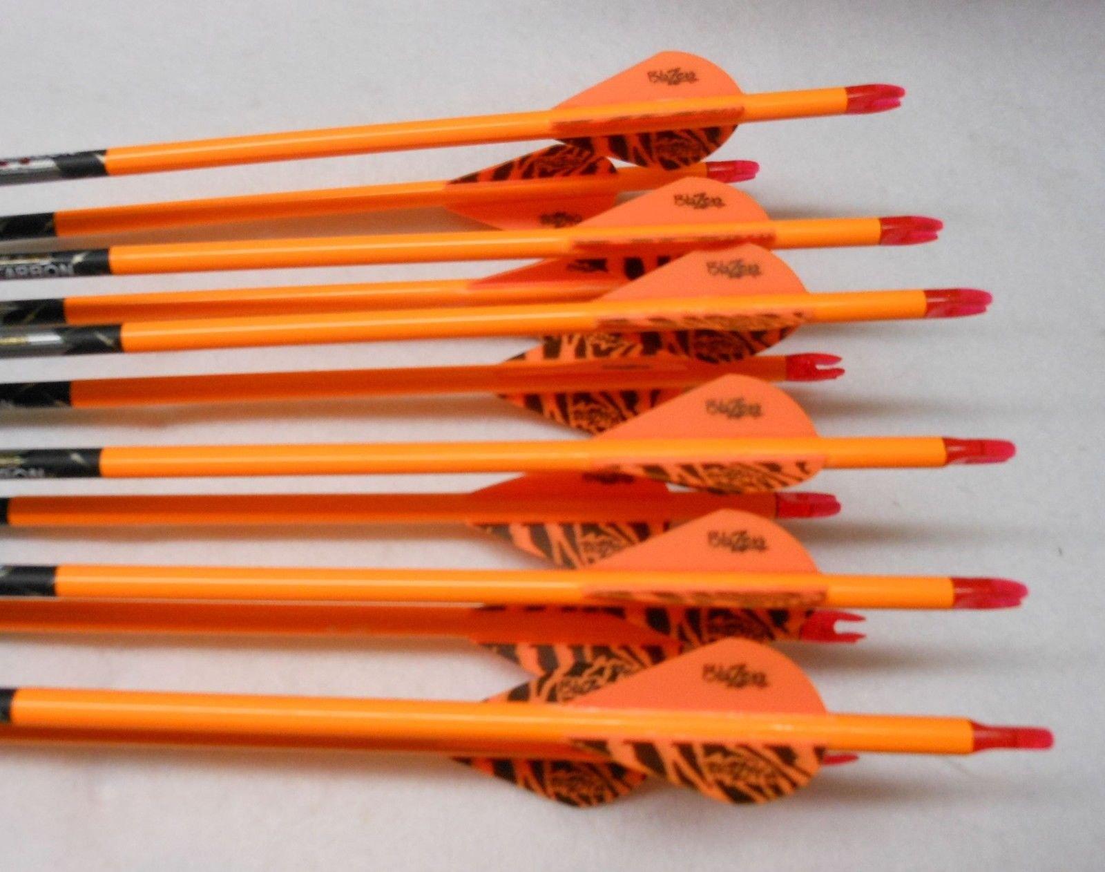 Easton ST Axis N Fused 400 Carbon Arrows w/Blazer Vanes Bullseye Wraps 1 Dz.
