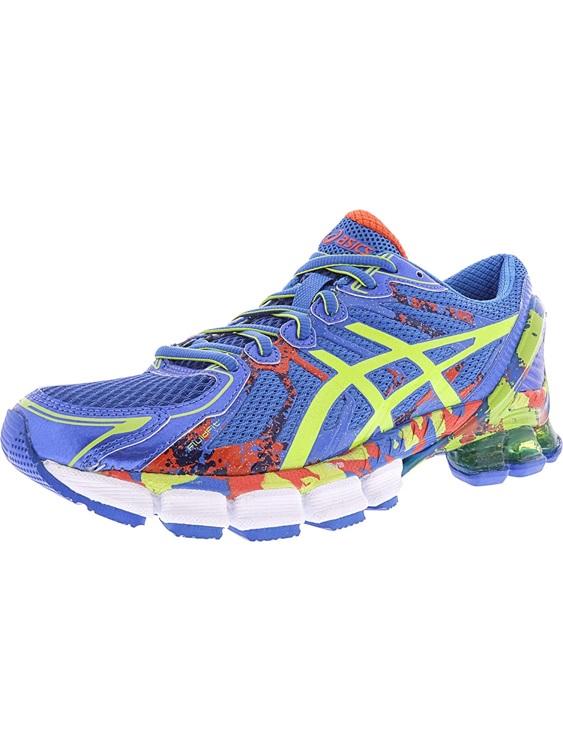 timeless design 7c6d9 f6b0f Amazon.com   ASICS Men s Gel-Sendai 2 Electric Blue Lime Cherry Tomato  Ankle-High Running Shoe - 7.5M   Running