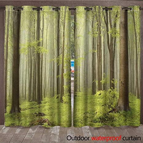 BlountDecor Woodland - Cortina para Interiores y Exteriores ...