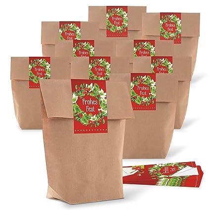 Logbuch-Verlag - Lote de 25 bolsas de papel de estraza con ...