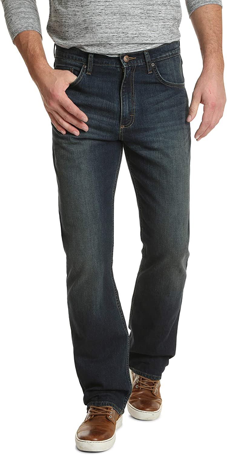 Wrangler Authentics Men's Relaxed Fit Boot Cut Jean at  Men's Clothing store