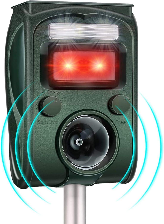 AWLGAK R/épulsif Chats Exterieur,Repulsif Chat Ultrason Solaire Chat Exterieur Sensibilit/é et Fr/équence R/églable R/épulsif Animaux Imperm/éable Avec alarme Convient pour les jardins