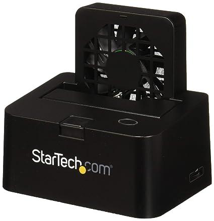 StarTech com eSATA or USB 3 0 External docking station for 2 5/3 5in SATA  III hard drives - SSD & HDD dock w/ UASP & built-in Fan (SDOCKU33EF)