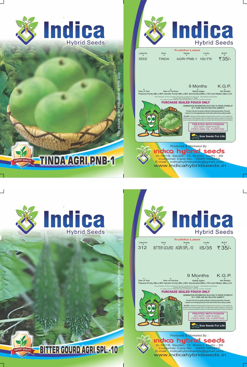Summer Special Vegetable Seeds Combo- 2 packets (Indica