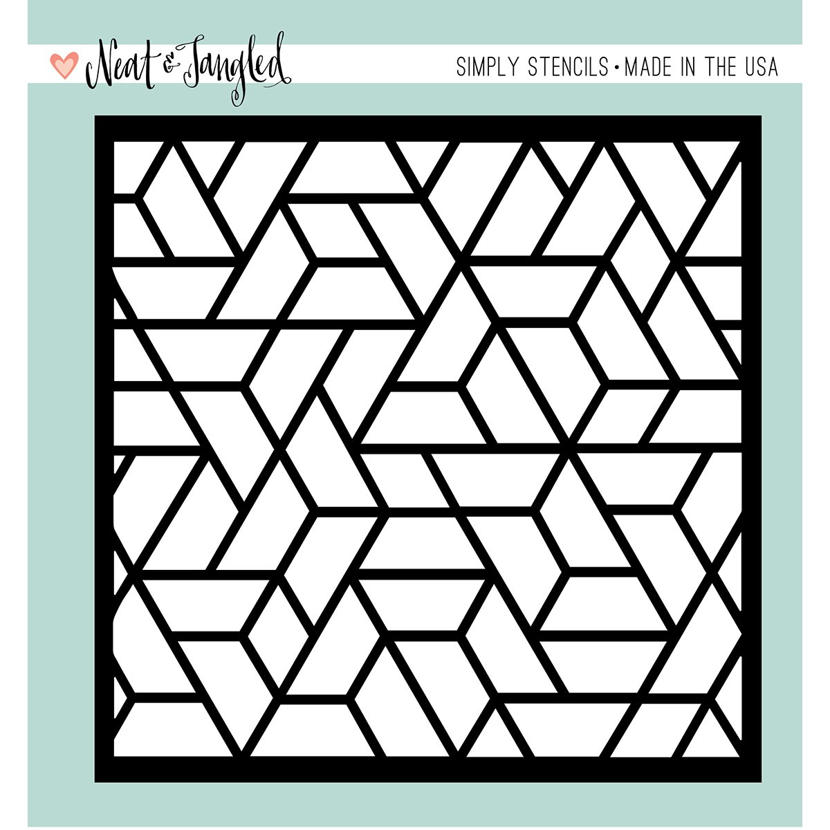 Neat /& Tangled NAT257 Stencil 6X6-Polygon