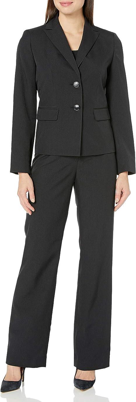 Amazon.com: Le Suit traje de pantalón negro de 2 botones ...
