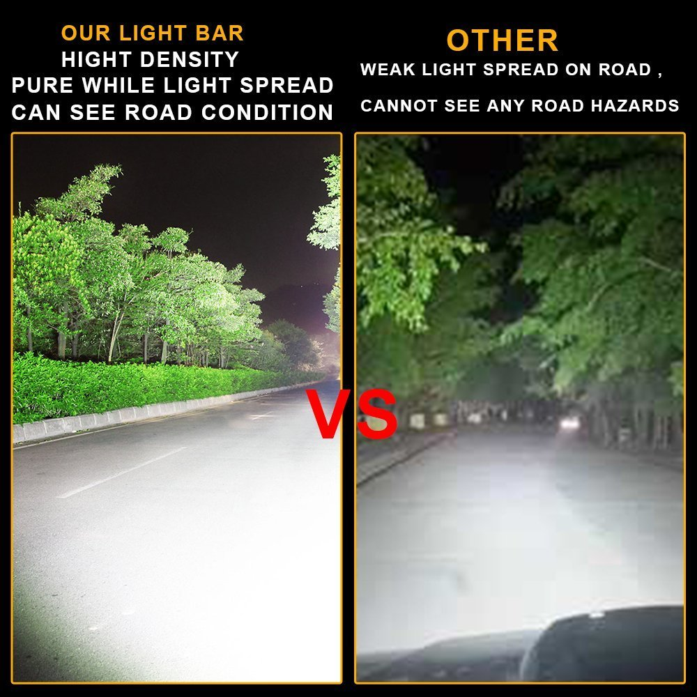 162w 25in spot flood led light bar foco faros de coche Luces de marcha atrás Incluye soportes de metal y tornillos Cableado relé e interruptor 12v-24v ...