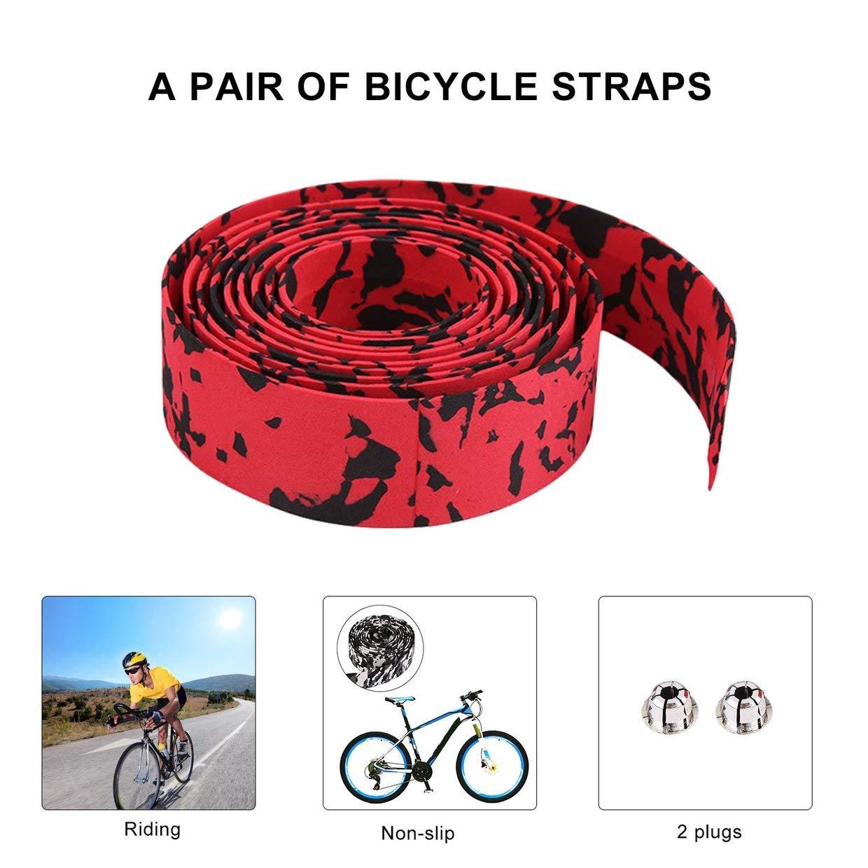 2 Bar Gratis MXECO Cintur/ón de Manillar de Ciclismo Colorido Bicicleta Bicicleta Corcho Manillar Cinta Wrap