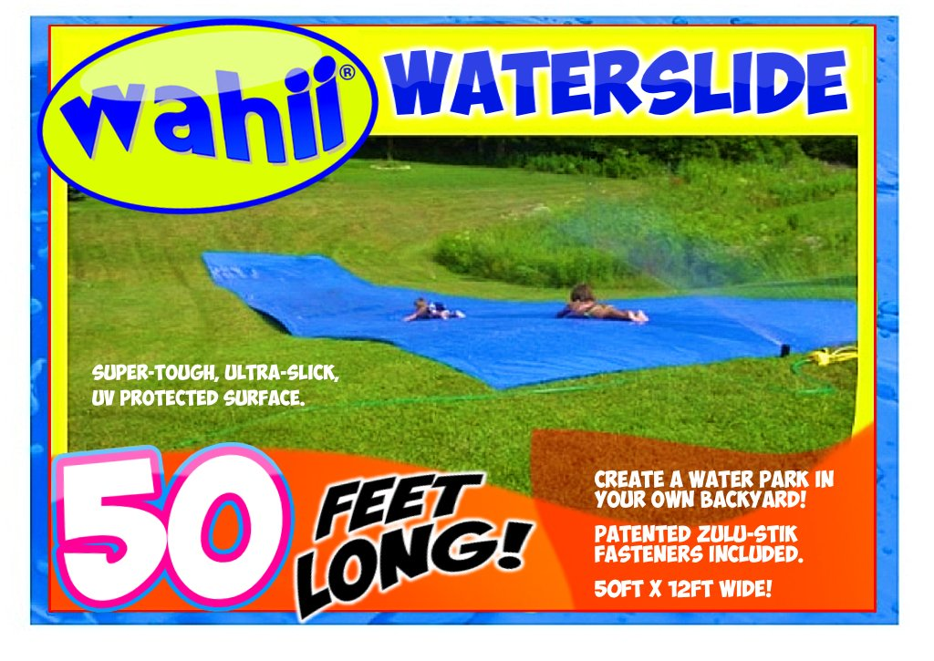 WAHII Waterslide 50' x 12' - World's Biggest Backyard Lawn Water Slide by WAHII