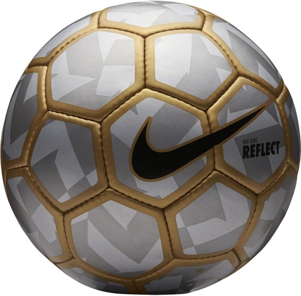 Nike Duro Reflect - Balón Unisex, Color Plata/Dorado/Negro, Talla ...