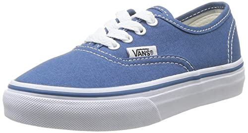 0194090c059 Vans Authentic Canvas Junior Navy Lace Up Kids Shoes  Amazon.co.uk ...
