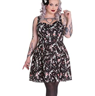 e55730cc89b9 Hell Bunny Party HEART ZOMBIES DRESS Mini BLACK: Amazon.co.uk: Clothing