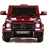 Power Wheels Electric for Kids - Ride On Car - 12V Battery Powered Ride On Cars - With Remote Control Car - Battery Operated Ride On Toy For Kids – Mercedes G65 MP3 Radio Cherry Colored